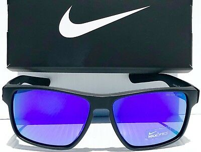 44622dfd08 NEW* NIKE MAVRK Matte BLACK frame w Purple Electric Lens Sunglass EV0773 056
