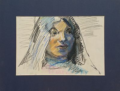 "Michael Steiner ""Woman Series #1"", Pastel,11""h x 17""w image, stored 40 yrs"
