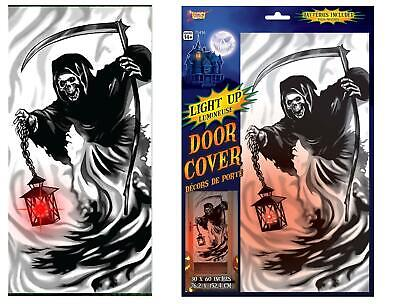 Halloween Costume Party Decoration Scary House Reaper Spooky Door Cover Light Up