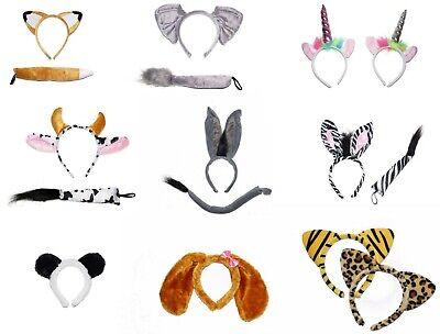ANIMAL EARS TAIL DOG BEAR BUNNY LION ZEBRA FOX CAT TIGER CAT DONKEY BOOK - Zebra Ears