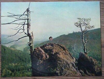 Colorvox Tonpostkarte Schallbildkarte Uebelbergfelsen Rennsteiglied Herbert Roth