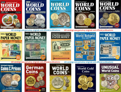 15 SERIES OF STANDARD CATALOGS OF WORLD COINS (KRAUSE NUMISTMATIC PUBLICATIONS)