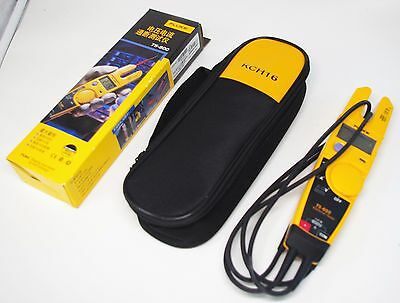 Fluke T5-600 Soft Case Kch16 Clamp Continuity Current Electrical Tester