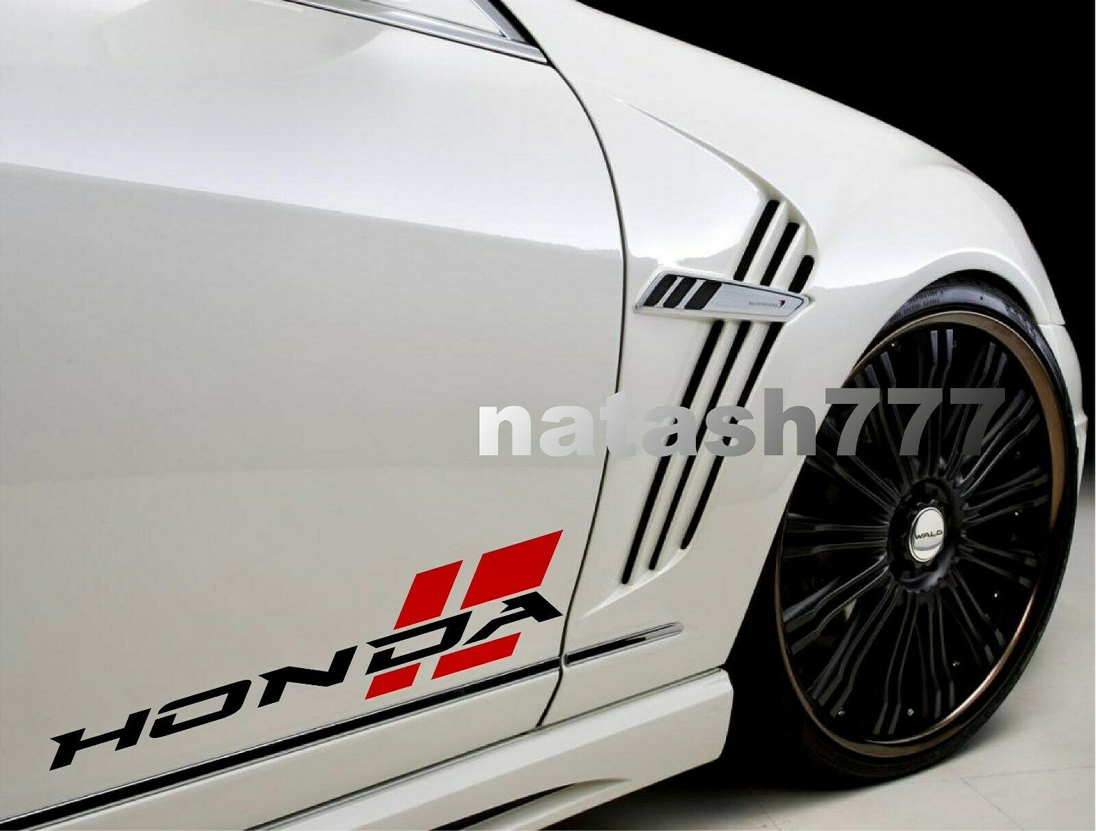 HONDA Sport Racing Performance Car Vinyl Decal Sticker Emblem logo 2pcs (Pair)