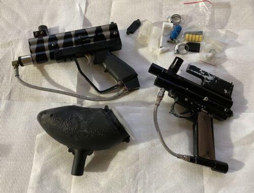 Lot of 2 Vintage Paint Ball Guns Plus Accessories Spyder Ben
