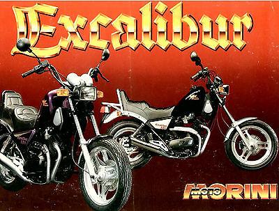 1986 Moto Morini 350 & 501 Excalibur Literature - 1987 Original - Vintage