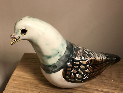 Cotswold Studio Pottery Signed Hand Painted Pigeon Rare