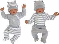 100% Baumwolle Baby 66 Set 2x Body + 2x Pantaloni + 2x Tappo Tg. 56 62 68 -  - ebay.it