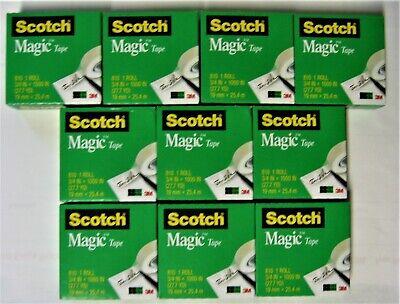 10 Refill Rolls Scotch Magic Invisible Tape 34 X 1000 Inches 1 Inch Core New