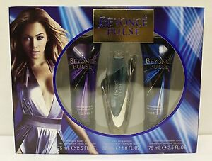 BEYONCE PULSE Gift Set Women Perfume EDP Body Lotion Shower Gel NEW IN BOX