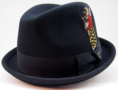 Brixton Hat GAIN Hut black schwarz NEU Wollhut fedora trilby unisex Hüte Herren ()