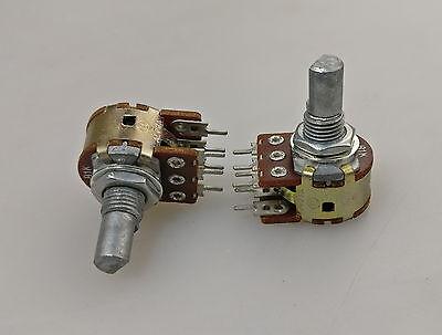2 X 16mm Mini Alpha B1k 1k Linear Taper Dual Potentiometer D Shaft