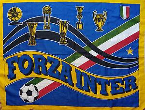 BANDIERINA-FC-FORZA-INTER-1988-89-VINTAGE-FLAG-BANDIERA-DRAPEAU-CALCIO-BANDERA