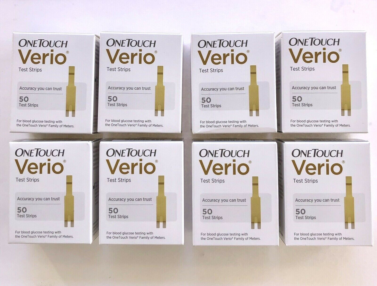 One Touch Verio Test Strips 400 Glucose  2021-JULY OneTouch
