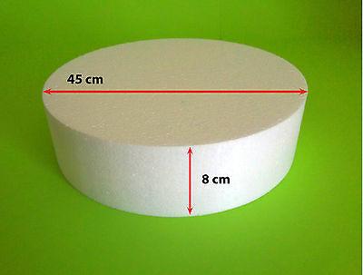 Styropor Scheibe Ø 45 x 8 cm Torte Sockel Dummy Hochzeit Cake Grundlage Wanddeko