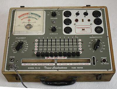 Superior Instruments Tv-12 Trans-conductance Tube Transistor Tester