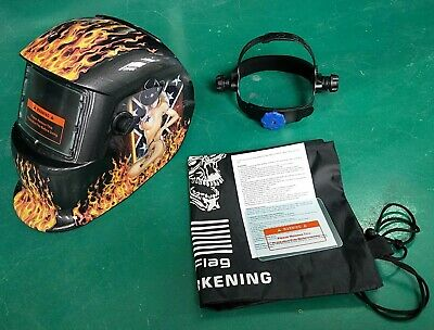 New Auto Darkening Weldinggrinding Helmet Hood1 Carrying Bag1 Clear Cover