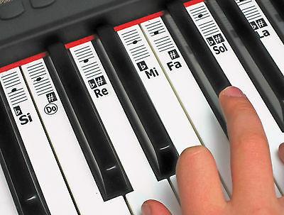Solfège Solfege Piano Music Note Stickers - Do-Re-Mi Learn Keyboard Labels Decal