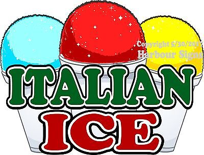 Italian Ice Decal Choose Your Size Concession Food Truck Sign Sticker