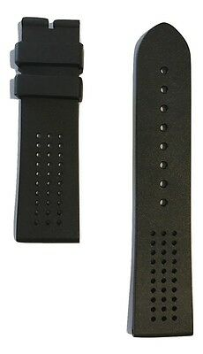 Original Movado Museum Sport Black Rubber Watch Band Strap For 0606545 / 0607002