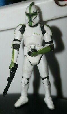 "green Clone Trooper commander officer clonetrooper Star Wars 3.75 inch"" LOOSE"
