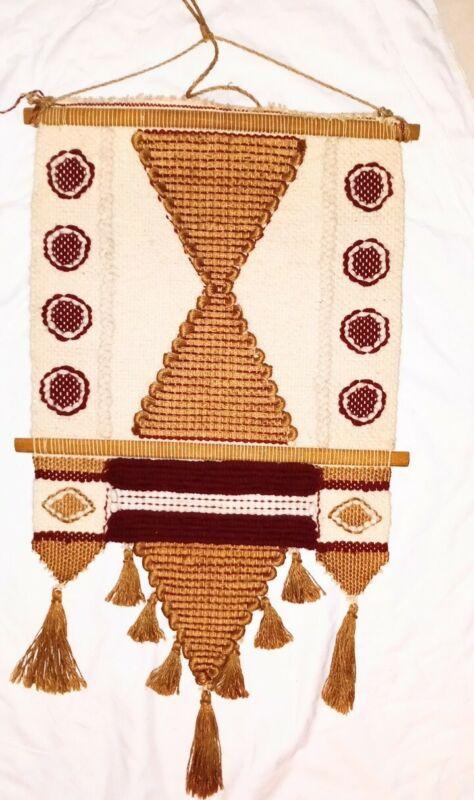 Don Freedman Wall Macramé Tapestry Circa 1970