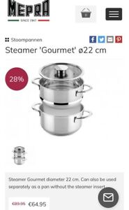 Mepra 22cm(5 liter) stainless steel pot