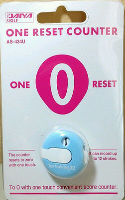 (Daiya Golf One Reset Counter Blue Clip On Golf Stroke Score Counter AS-434U )