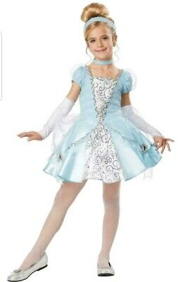Costumes For Cinderella (Cinderella Deluxe Costume for Girls size Small 6-8 by California Costumes)