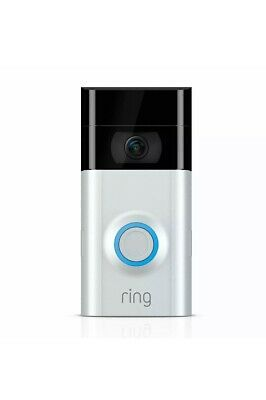 Ring Video Doorbell 2 Camera Satin Nickel Wifi 1080 HD Wireless Brand New Sealed