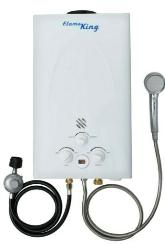 10L 2.64GPM Hot Water Heater Propane Gas Instant Tankless Boiler Shower Kit