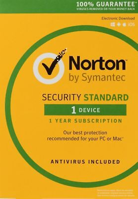 Norton Security Standard 3.0 2019 Download - 1 Device - Email Delivery