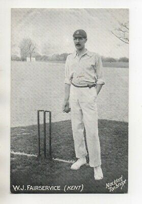 Vintage Mockford Cricket Postcard -  Kent - W J Fairservice