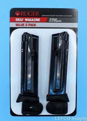 Ruger SR-22 Magazine w/ Extension 10-Round RD 22-LR Value 2-Pack 90647 OEM Clip