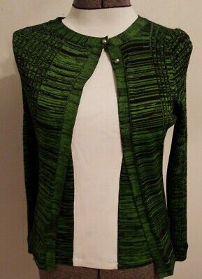 Pringle Of Scotland Women's Green & Black Twinset Cardigan & Shell Top Set #191
