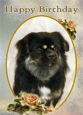 Tibetan Spaniel Dog Design A6 Textured Birthday Card BDTIBBIE-2 by paws2print