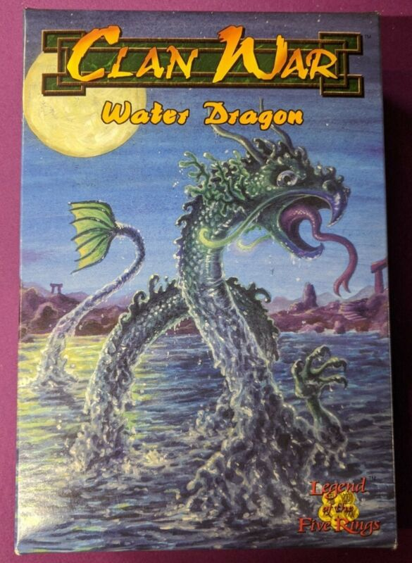 AEG Clan War 99-005 L5R Water Dragon (Metal) New - Card Included