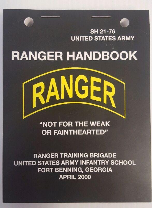 US Army Rangers Handbook Pocket-Size Lanyard HolesSkills, Tactics, and Traits
