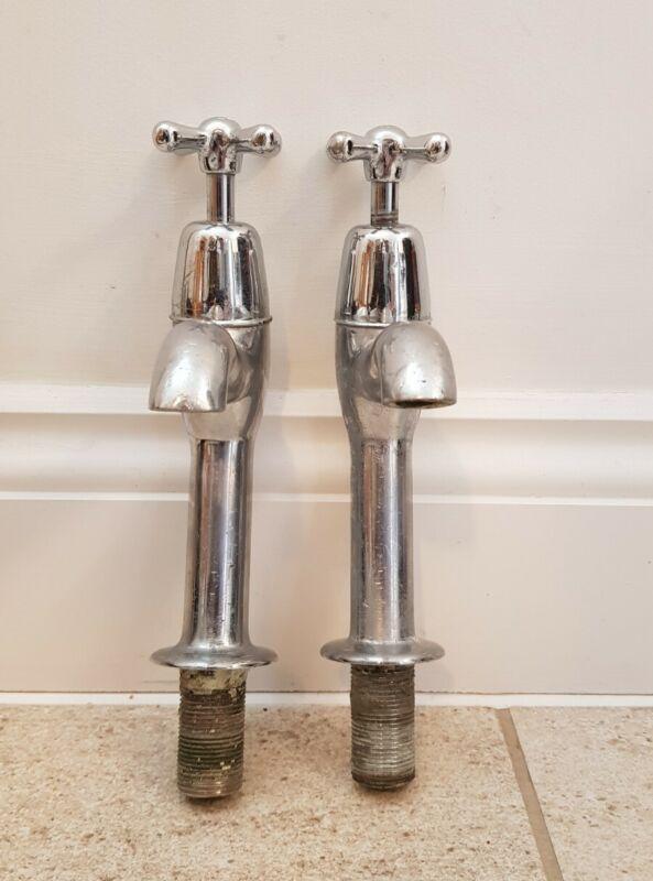 Large Reclaimed Chrome Kitchen Taps old vintage Belfast Sink type