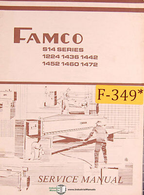 Famco S14 Series Shear Service Parts And Wiring Manual