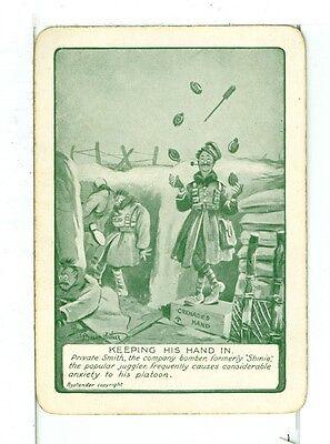 """Singolo Carte da Gioco Vintage Antico Bruce Bairnsfather Arte,Indicate As """" Ba 1"""