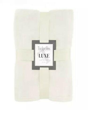 Tadpoles Luxe Solid Plush Baby Blanket, Cream 30 X 40  - $4.99