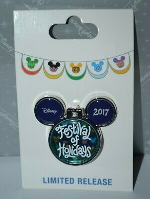 Disney DCA Festival Of Holidays 2017 Holiday Logo Pin 125727 Limited Release