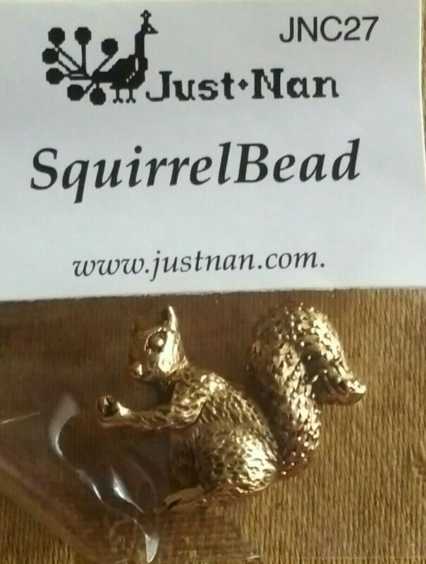 JUST NAN SQUIRREL CHARM FOR CROSS STITCH NEEDS