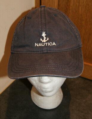 Vintage 90's NAUTICA Sailing Anchor Boating Dad Hat Strapback Belt Cap OSFA
