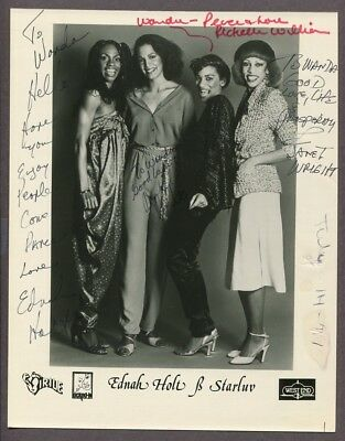 Ednah Holt & Starluv Group SIGNED Photo Disco Richie Family West End Funk J6180