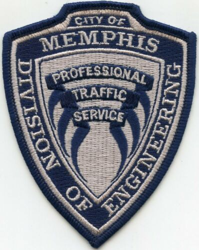 MEMPHIS TENNESSEE TN Professional Traffic Service ENGINEERING police PATCH