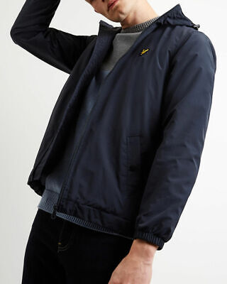 Lyle and Scott Men Microfleece Lined Zip Through Mens Hooded Jacket