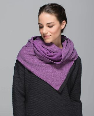Lululemon Vinyasa wrap scarf in violet and gray