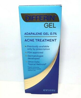 Differin (Adapalene 0.1%) Acne Treatment Gel - 1.6 oz - Exp May 2022